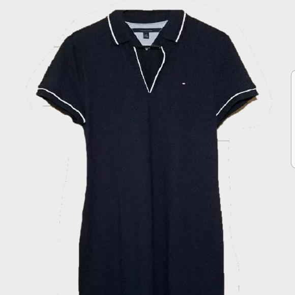 9ea669ae95292 TOMMY HILFIGER TENNIS POLO DRESS NAVY BLUE WHITE. M 5b2e1ab2c89e1ddda25bddc8